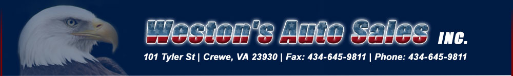 Weston's Auto Sales, Inc - Crewe, VA