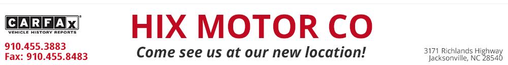 Hix Motor Co - Jacksonville, NC
