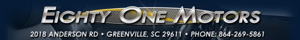 Eighty One Motors - Greenville, SC