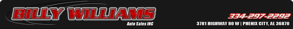 Billy Williams Auto Sales INC - Phenix City, AL