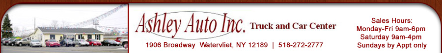 ASHLEY AUTO INC - Watervliet, NY