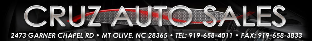 CRUZ AUTO SALES - Mount Olive, NC