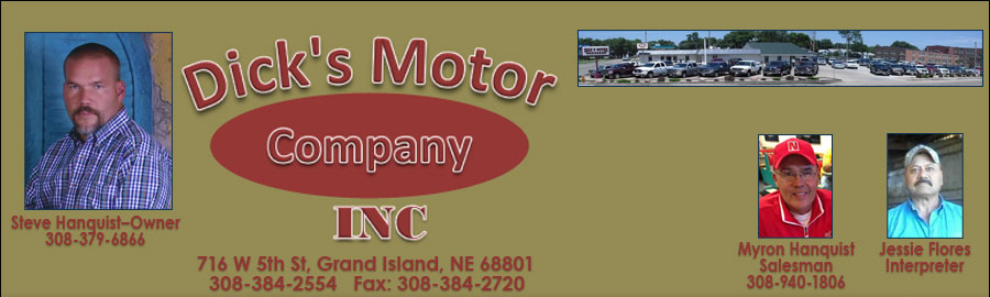 DICK'S MOTOR CO INC - Grand Island, NE