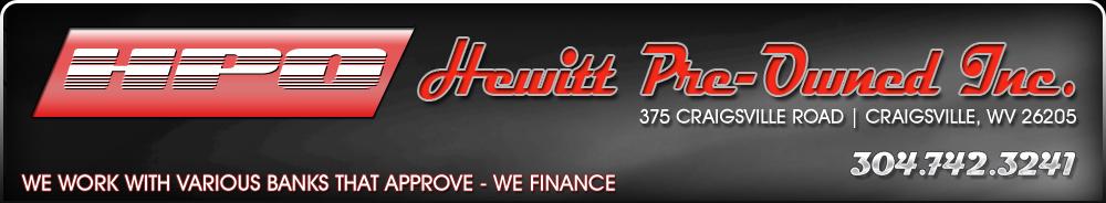 HEWITT PRE-OWNED INC - Craigsville, WV