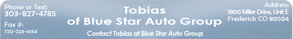 Tobias of Blue Star Auto Group - Frederick, CO