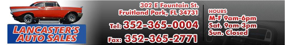 LANCASTER'S AUTO SALES INC - FRUITLAND PARK, FL