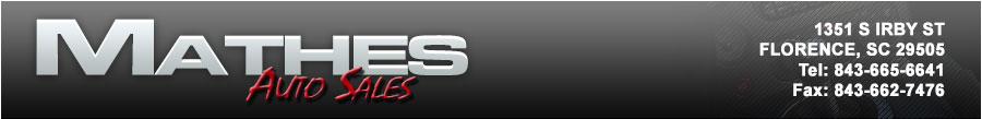 MATHES AUTO SALES INC - FLORENCE, SC