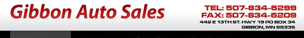 Gibbon Auto Sales - Gibbon, MN